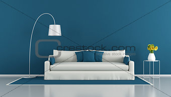 Blue modern living room