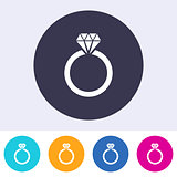 Vector wedding ring icon