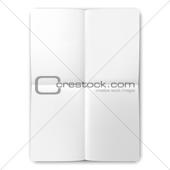 Folded List of White Paper