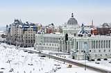 Kazan, view of city in winter.
