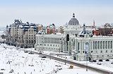 Kazan, view of city in winter.