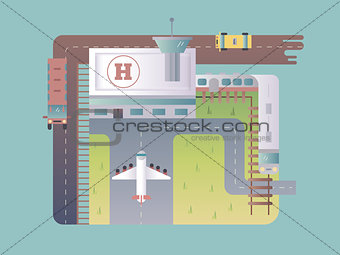 Airport top view