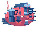 Coffee at breakfast design