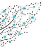 Vector flowers and branches
