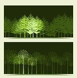 Vector Landscape Banners