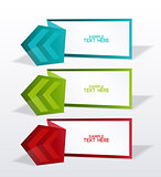 Vector banners with arrows