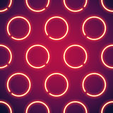 Glowing Neon Circles Seamless Background