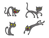 Halloween Cats vector pack