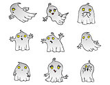 Halloween Ghost vector pack