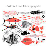 Collection wonderful graphics fish