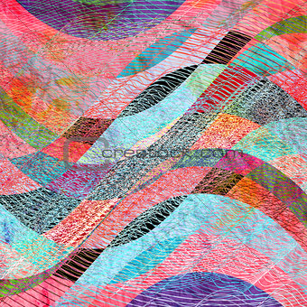 Abstract watercolor background with waves