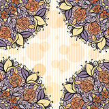 Beige and lavender mandala subtle striped seamless pattern.wedding tender design.Flowers  decorative wrath