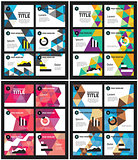 Presentation template abstract polygonal backgrounds