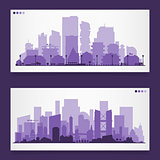 Various part cities skyline sets