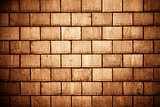 High resolution brown cream brick wall texture