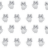 Kittens seamless pattern.