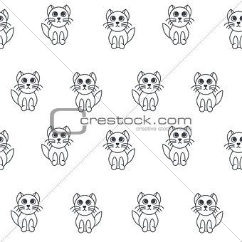 Kittens seamless pattern.