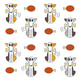 Happy dogs with bone seamless pattern.