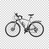 Bike a transparent background. Bicycle silhouette illustration vector art.