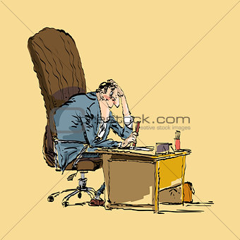 businessman boss works