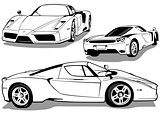 Sport Car from 3 Views