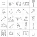 Fishing Line icons.