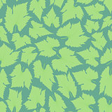 Green leaf. The boho style. Seamless pattern