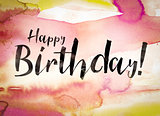 Happy Birthday Concept Watercolor Theme