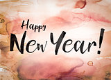Happy New Year Concept Watercolor Theme