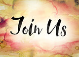 Join Us Concept Watercolor Theme