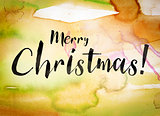 Merry Christmas Concept Watercolor Theme
