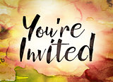 You're Invited Concept Watercolor Theme