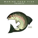 Salmon. Marine Food Fish