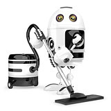 Robot cleaner. Technology concept. Isolated. Contains clipping path