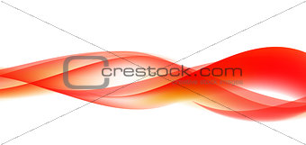 Abstract  Wave Set on White Background. Vector Illustration