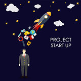 Success. Personal and career growth. Business idea. Quick Start