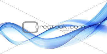 Abstract Wave Set on White Background. Vector Illustration.