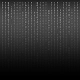 Black and White. Algorithm Binary Code with digits on background