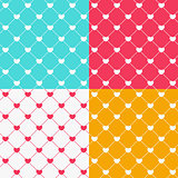 Romantic Seamless Pattern Background Vector Illustration