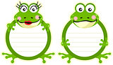Printed tags couple frogs