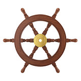 3d wooden ships wheel rendering