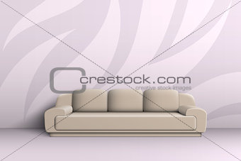 Three seater sofa in the room