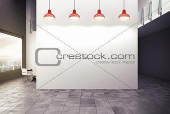 3D rendering of a modern office