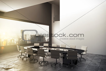 3D rendering of a modern office