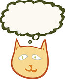 Cat with thought bubble illustration