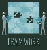 Vector Flat Business Concept Teamwork