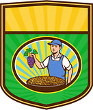 Organic Farmer Boy Grapes Raisins Crest Retro