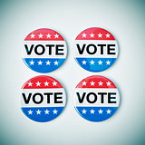 vote badges for the United States election