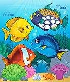 Coral reef fish theme image 4