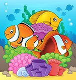 Coral reef fish theme image 7